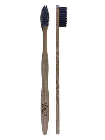 Charcoal Ion Toothbrush with Bamboo Handle